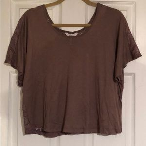 Kiera Brown Back Lace Top